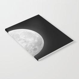 CHALK WHITE MOON Notebook