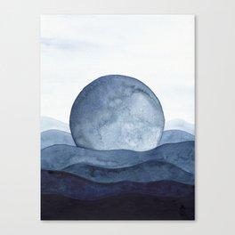 Moon Landscape Canvas Print