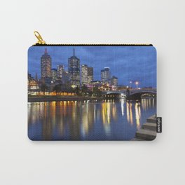 I - Skyline of Melbourne, Australia across the Yarra River at night Carry-All Pouch