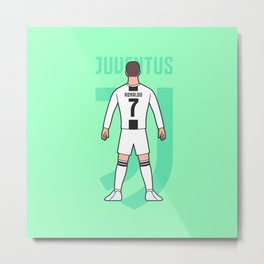 Cristiano arrives in Turin Metal Print
