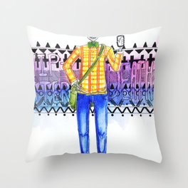 Hipster Death Throw Pillow