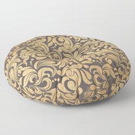 Gold foil swirls damask #11 Floor Pillow