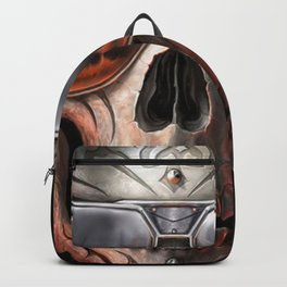 triball skull / Gothique Poster - Feu D'Enfer Backpack