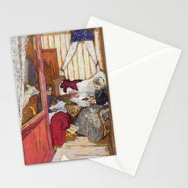 12,000pixel-500dpi - Edouard Vuillard - Women Sewing - Digital Remastered Edition Stationery Cards