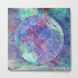 Marble World of Color Metal Print