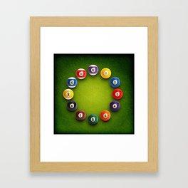 Billiards Snooker Novelty Clock Framed Art Print