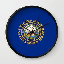 flag new hampshire,america,us,granite,new england, new hampshirite,Concord,keene,Nashua,portsmouth Wall Clock
