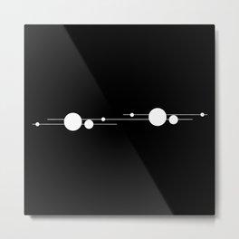 Binary System White and Black Metal Print