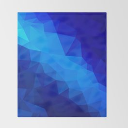 Abstract digital art polygon triangles Throw Blanket