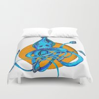 squid Duvet Covers featuring Squid by Ruth Wels