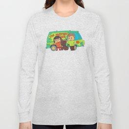 Sleuth Couple and Dog Long Sleeve T-shirt