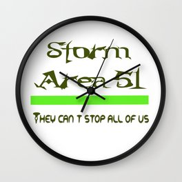 Storm Area 51 Wall Clock