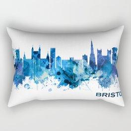 Bristol England skyline Blue Rectangular Pillow