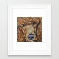 poodle Framed Art Prints featuring Poodle by Melissa Smith Pet Art