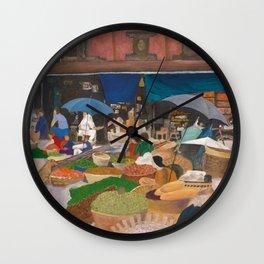 Kathmandu Market - Nepal Wall Clock