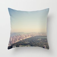 central park Throw Pillows featuring Central Park by Thomas Richter