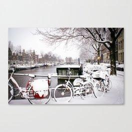 AMSTERDAM / Snow Canvas Print