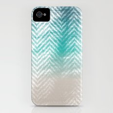 Ocean Chevron Slim Case iPhone (4, 4s)