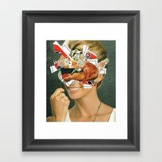 the disaster in her face 4 Framed Art Print