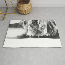 Coiffure - Yorkie - Black and White Rug