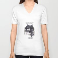 catwoman V-neck T-shirts featuring catwoman by SOB
