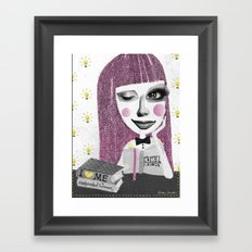 I think therefore I am... single Framed Art Print