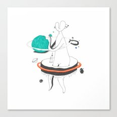 VACANCY Zine - Outer Space Breakfast Canvas Print