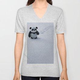 Zeke the Zen Panda Unisex V-Neck