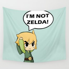 I'm not Zelda! (link from legend of zelda) Wall Tapestry