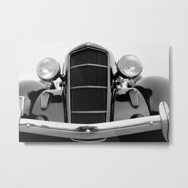 Vintage Black Car | Luxury | Bedroom Art Metal Print