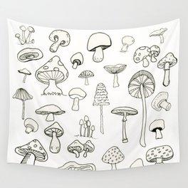Simply Mushrooms Wall Tapestry