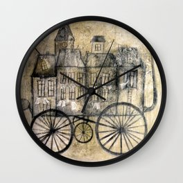 little town transport Wall Clock