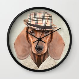 The stylish Mr Dachshund Wall Clock