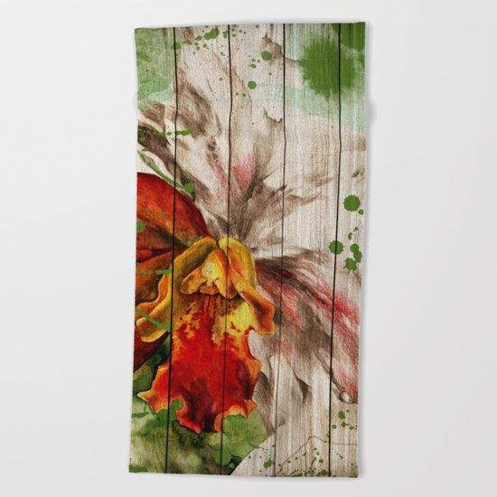 Spring on Wood 02 Beach Towel