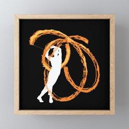 Fire poi artist best gift Framed Mini Art Print