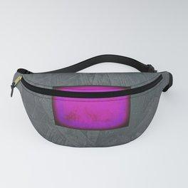 Slate Gray Lavender Fuschia Modern Art Fanny Pack