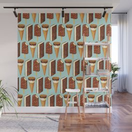 Ice Cream Pattern - Popsicles Wall Mural