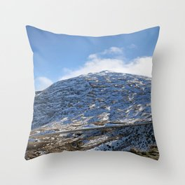 The Drive to Cardrona Ski Fields from Queenstown, New Zealand Throw Pillow