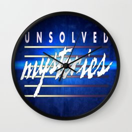 Unsolved Mysteries Remastered Wall Clock