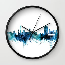 Lugano Switzerland Skyline Wall Clock