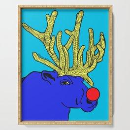 Rudolph The Red Nose Raindeer Serving Tray