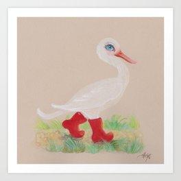 a Snozzleberry Swan excursion Art Print