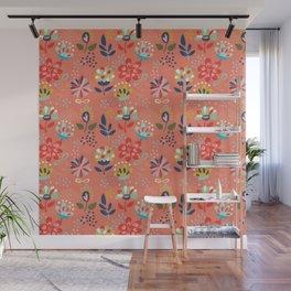 Pretty Floral Wall Mural