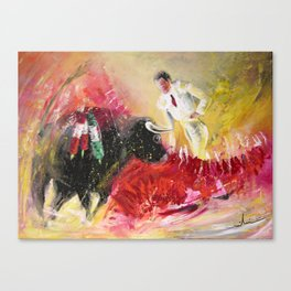 The Red Barrier Canvas Print