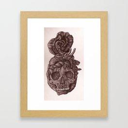 evil heart rose Framed Art Print