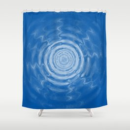 Ripples_blue Shower Curtain