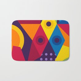 Abstract modern geometric background. Composition 16 Bath Mat