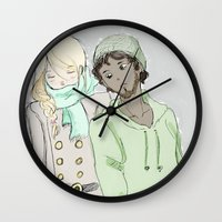 les mis Wall Clocks featuring pRouvaire Les Mis by Pruoviare