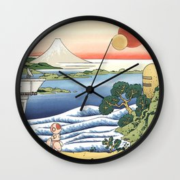 Robot in Hokusai's World Wall Clock