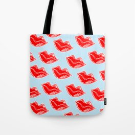 """V"" Pouty Tote Bag"